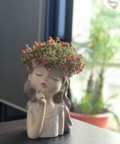 Bình Hoa Cô Gái Để Bàn