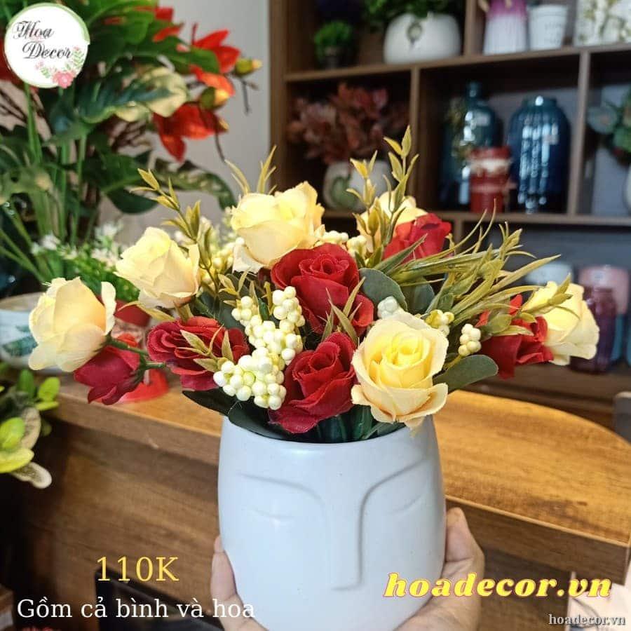 Chậu Hoa Hình Mặt Người