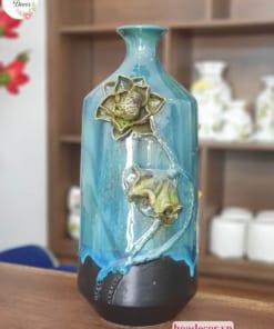 Bình Chai đắp Hoa