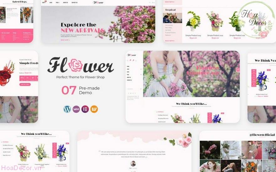 Tạo Website Bán Hoa